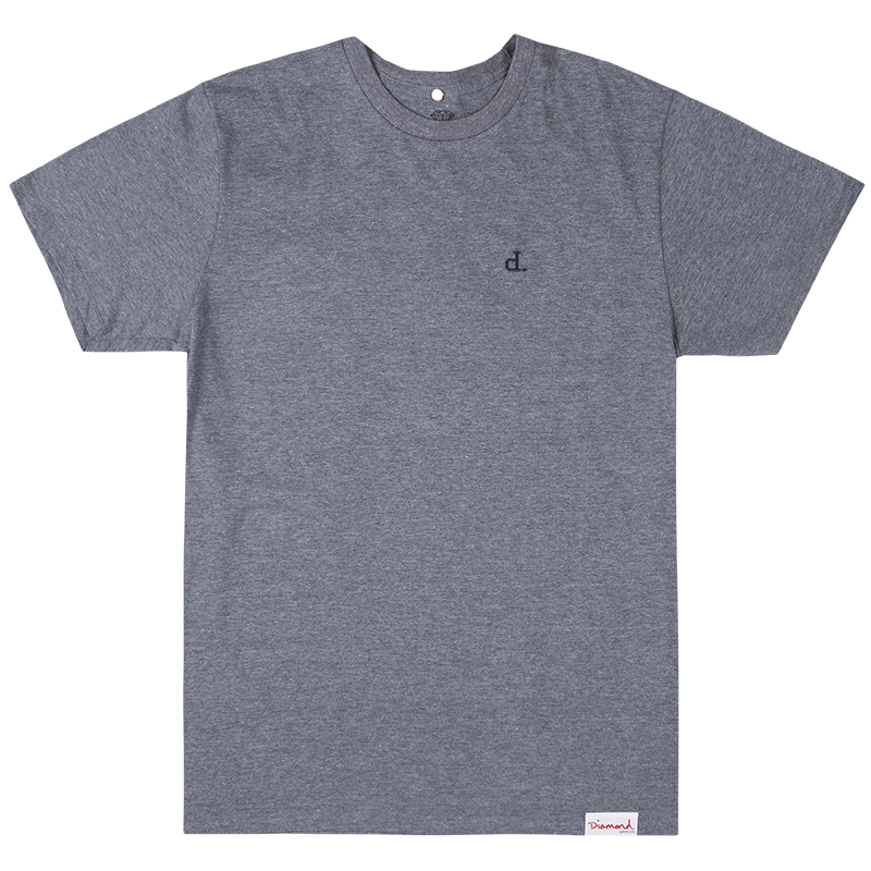 Diamond Micro Un Polo T-Shirt Heather Grey