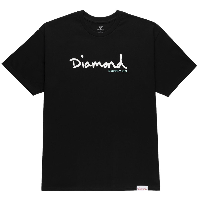 Diamond Og Script T-Shirt Black