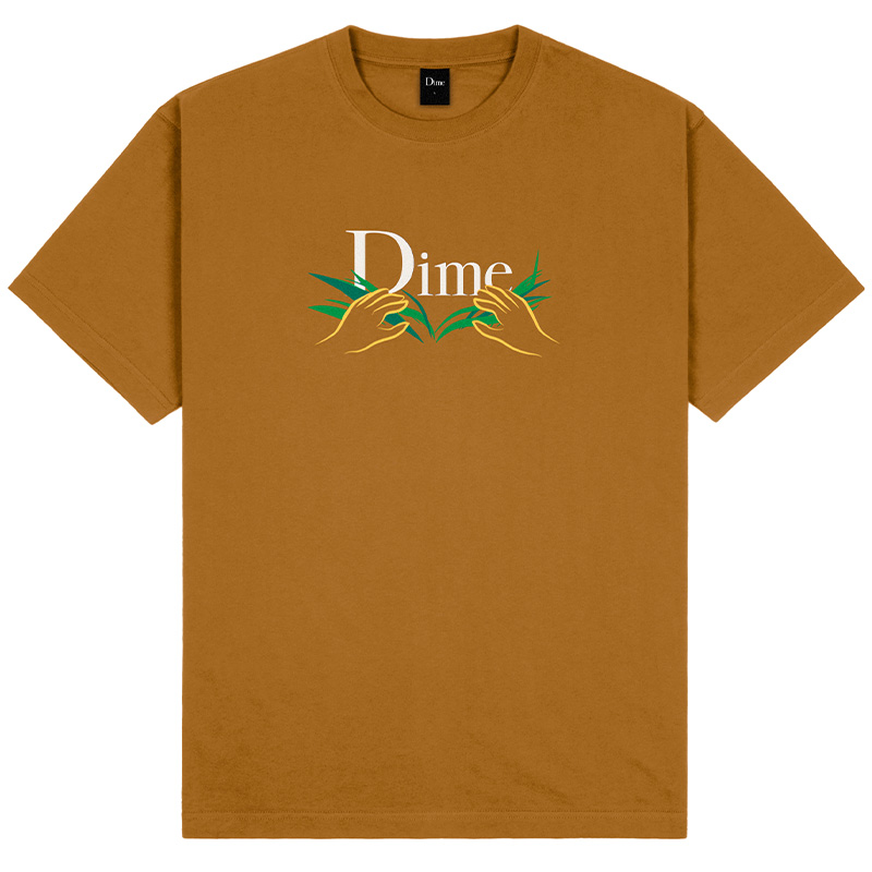 Dime Classic Grass T-Shirt Coffee