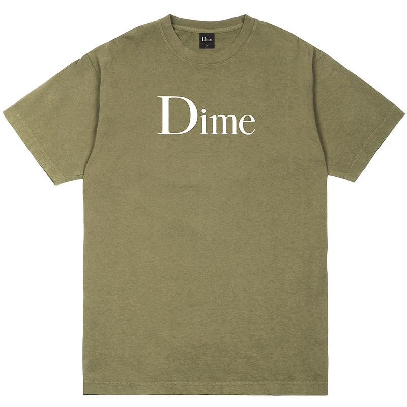 Dime Classic Logo T-Shirt Beige