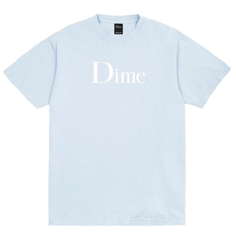 Dime Classic Logo T-Shirt Light Blue