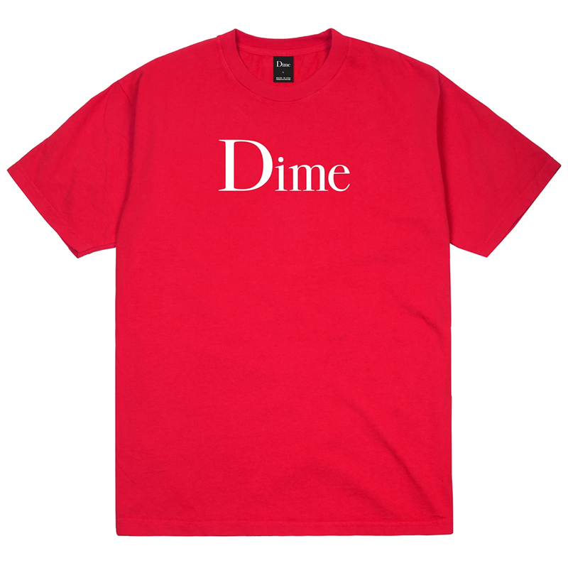Dime Classic Logo T-Shirt Tomato