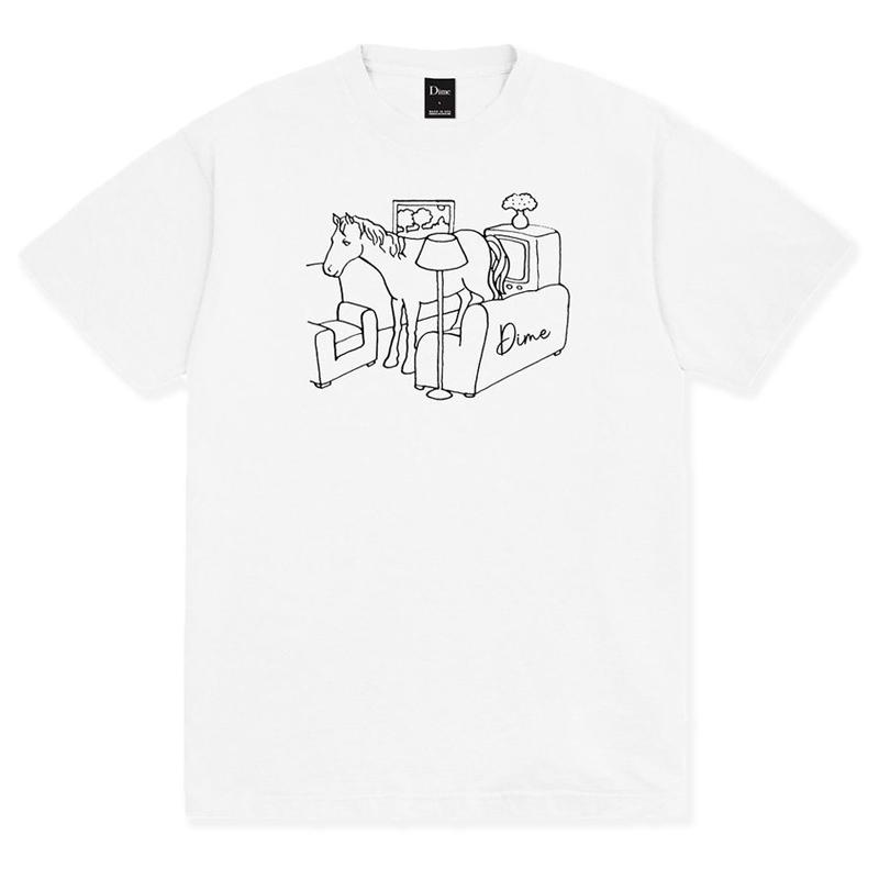 Dime Horse T-Shirt White