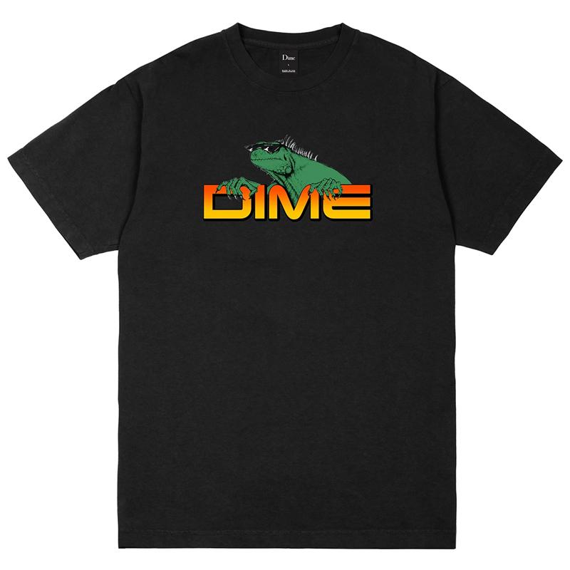 Dime Lizard T-Shirt Black