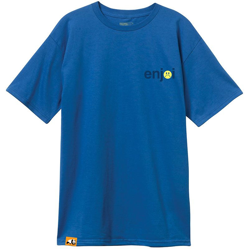 enjoi Frowny Face T-Shirt Royal