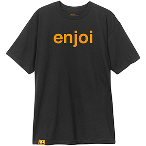 enjoi Helvetica Logo T-Shirt Black/Orange
