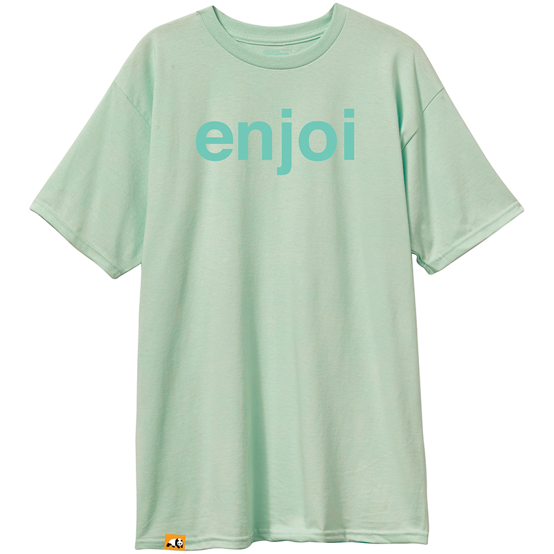 enjoi Helvetica Logo T-Shirt Celadon