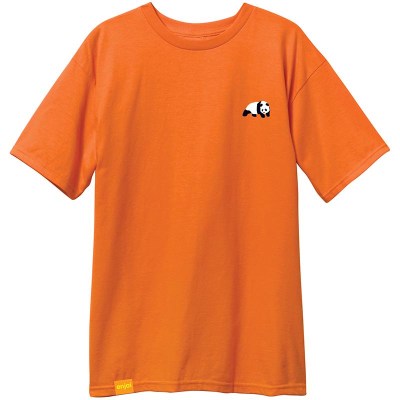 enjoi Small Panda Logo T-Shirt Orange
