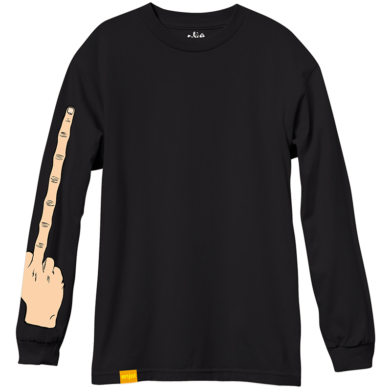 enjoi The Bird Longsleeve T-Shirt Black