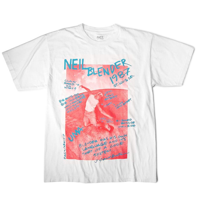 FACT Grant Brittain Neil Blender T-Shirt White