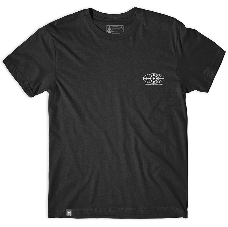 Girl Films Globe T-Shirt Black
