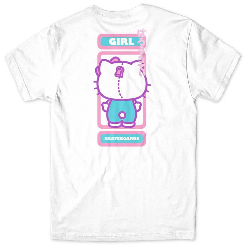 Girl Sanrio Backside T-Shirt White