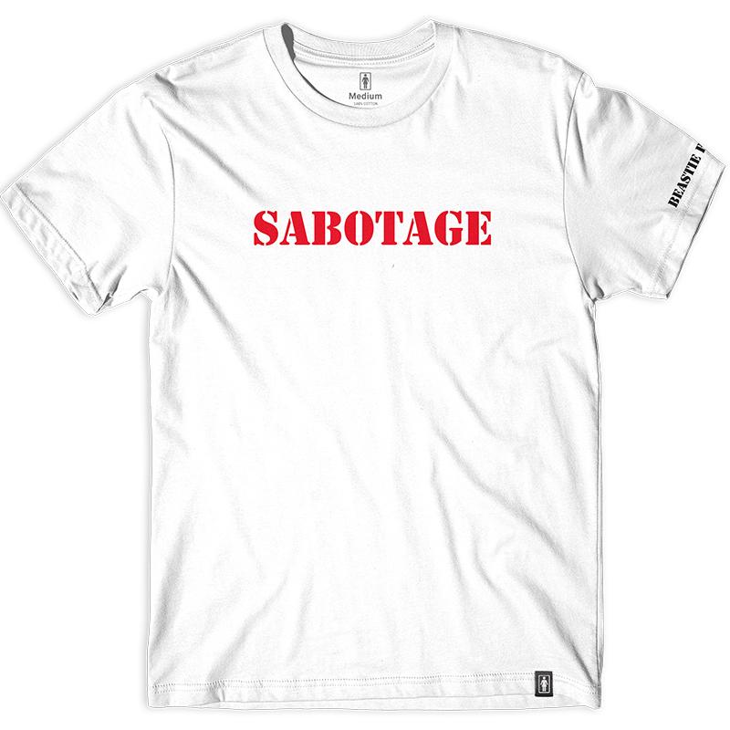 Girl x Beastie Boys Sabotage Type T-Shirt White