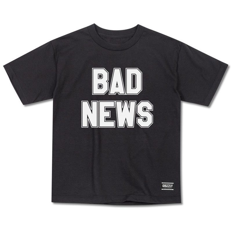 Grizzly Bad News 2 T-Shirt Black
