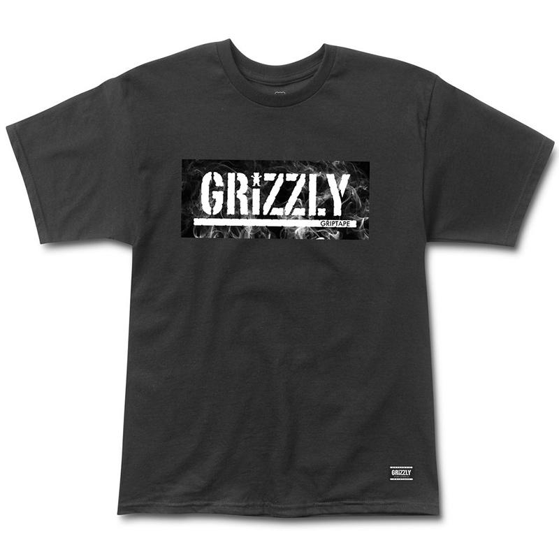 Grizzly Hot Box Logo Stamp T-Shirt Black