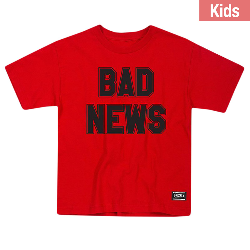Grizzly Kids Bad News 2 T-Shirt Red