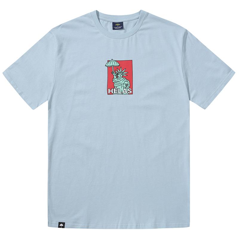 Helas Eiffel T-Shirt Grey Blue