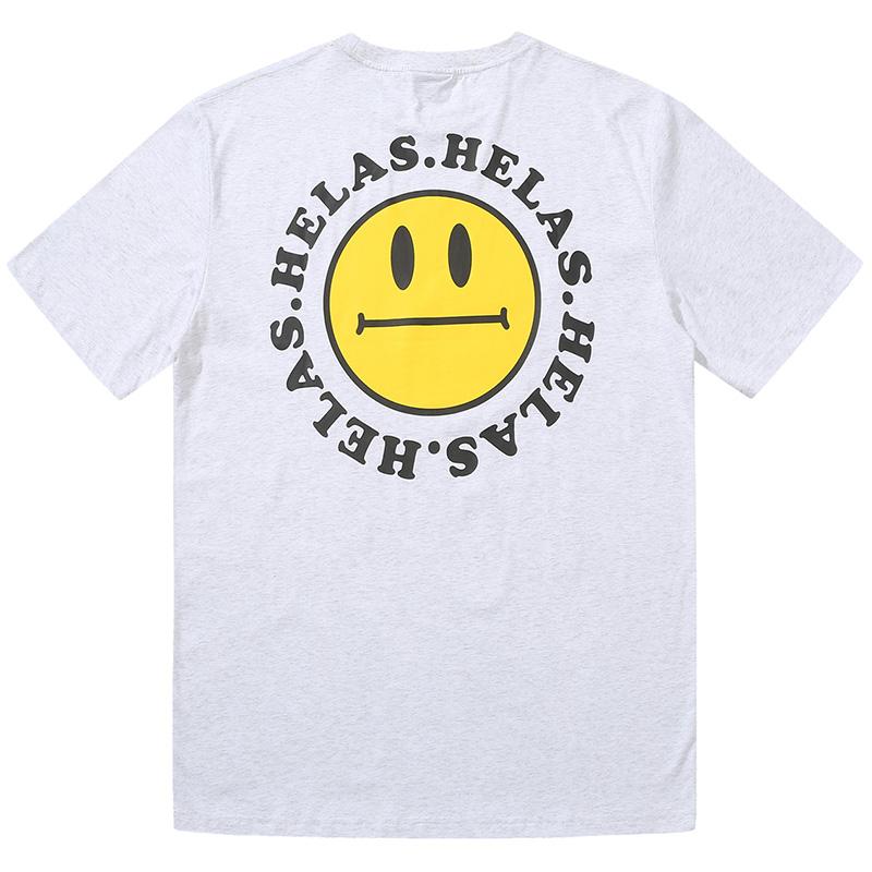 Helas Smiley T-Shirt Heather Grey