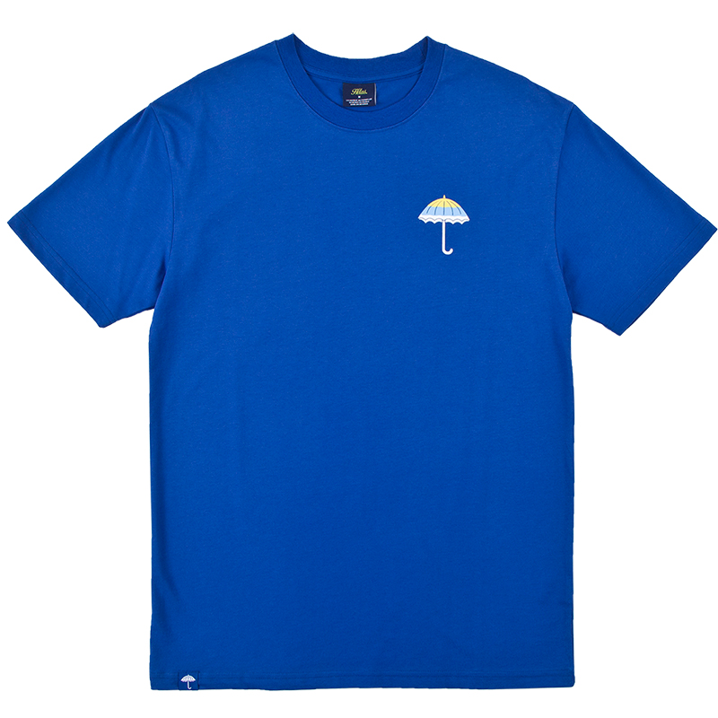 Helas Wavy Umbrella T-shirt Blue
