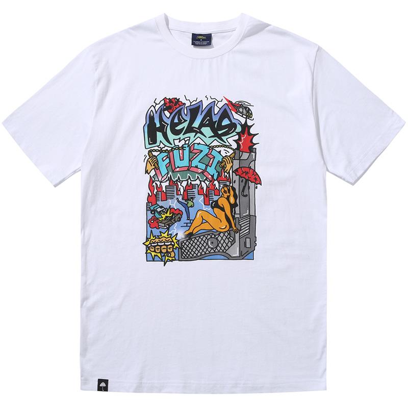 Helas X Fuzi Chaos T-Shirt White