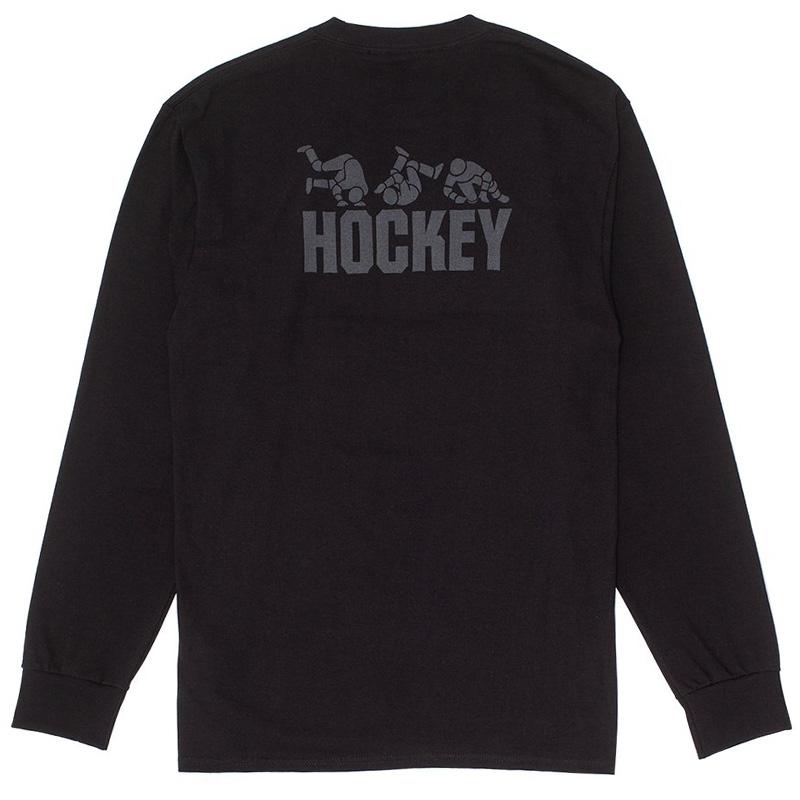 Hockey Fall Guy Longsleeve T-Shirt Black
