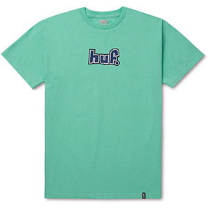 HUF 1993 Logo Over-Dye T-shirt Bright Aqua