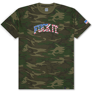 HUF 4Th Of July Fuck It Camo Flag T-shirt Woodland Camo