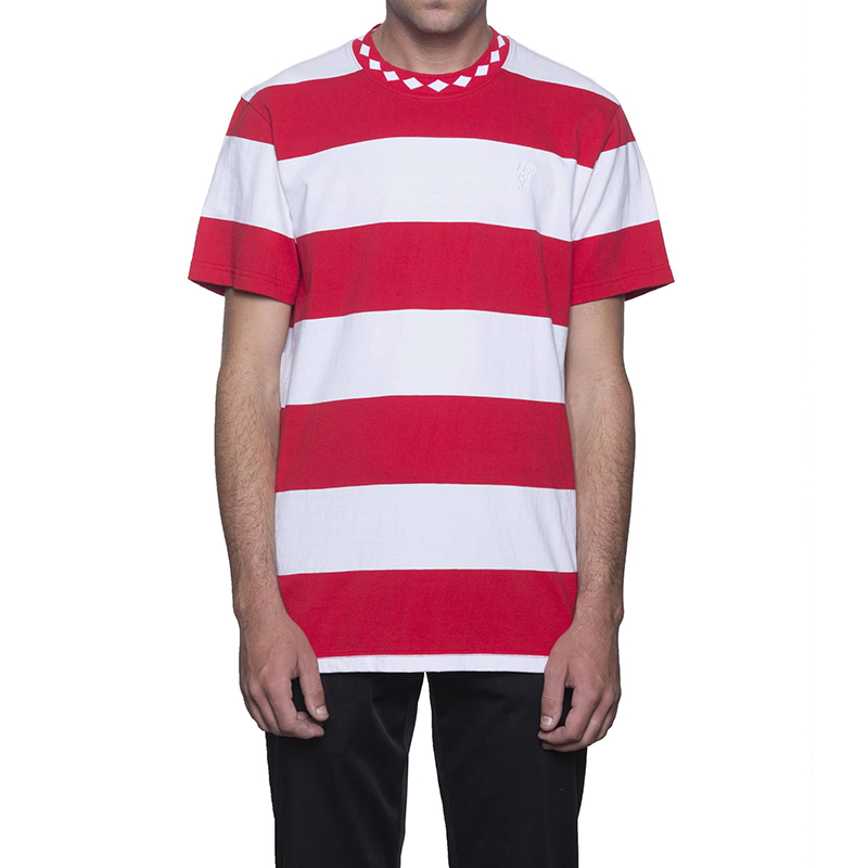 HUF Ace Stripe T-Shirt Red