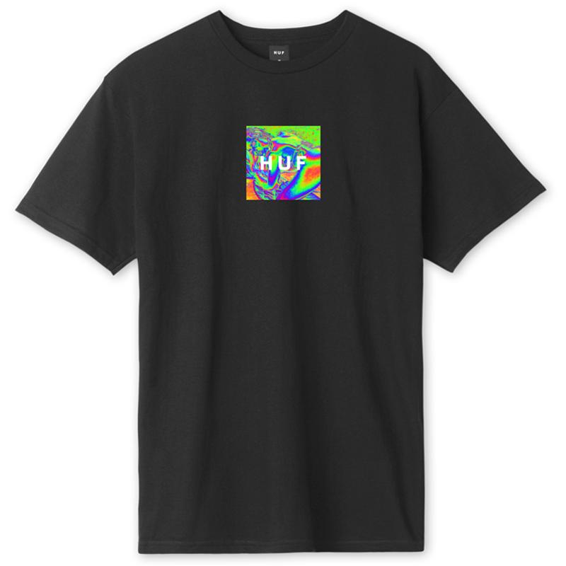 HUF Acid House Box Logo T-Shirt Black