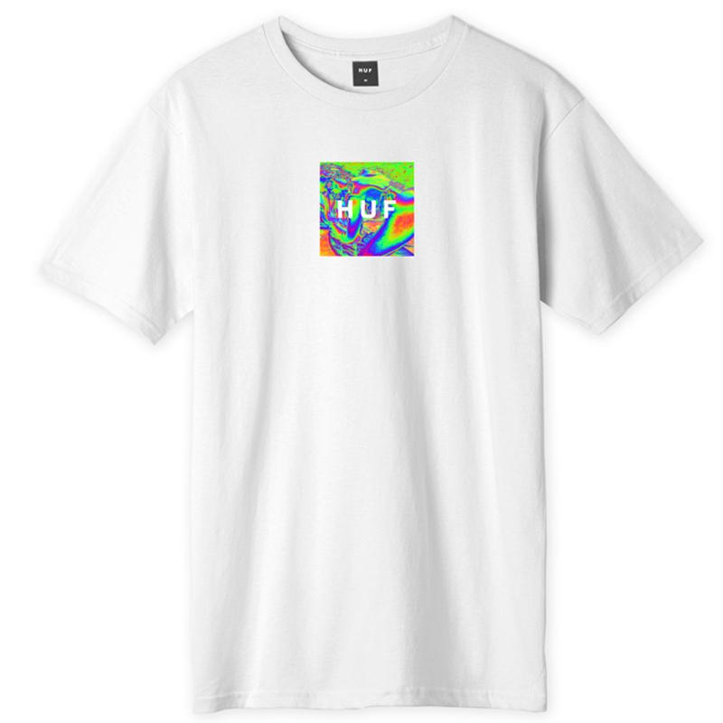 HUF Acid House Box Logo T-Shirt White