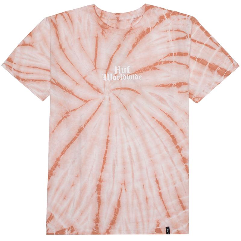 HUF Bar Bird Tie Dye T-shirt Coral Haze