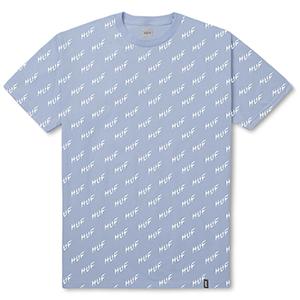 HUF Bolt All-Over T-Shirt Light Blue
