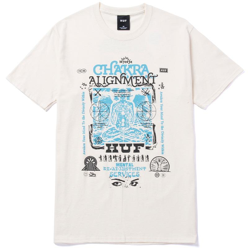 HUF Chakra Alignment T-Shirt Natural
