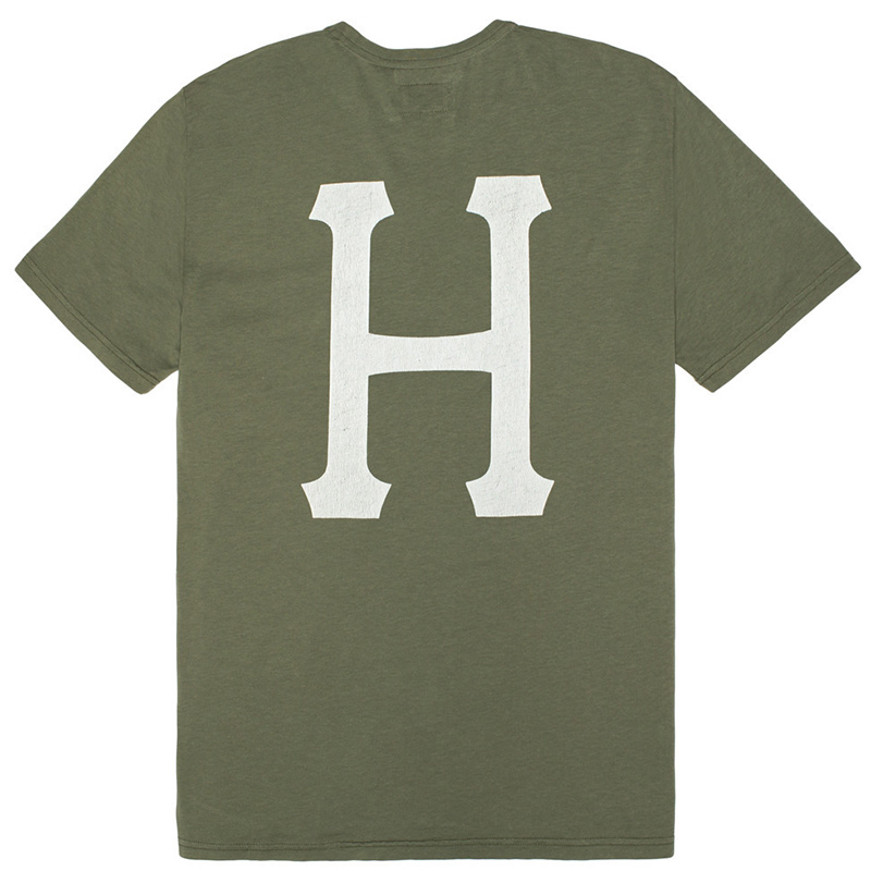 HUF Classic H Pigment Dyed T-Shirt Military Green