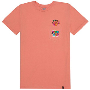 HUF Club HUF Pocket T-shirt Coral Haze