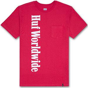 HUF Country Pocket T-Shirt Scarlet