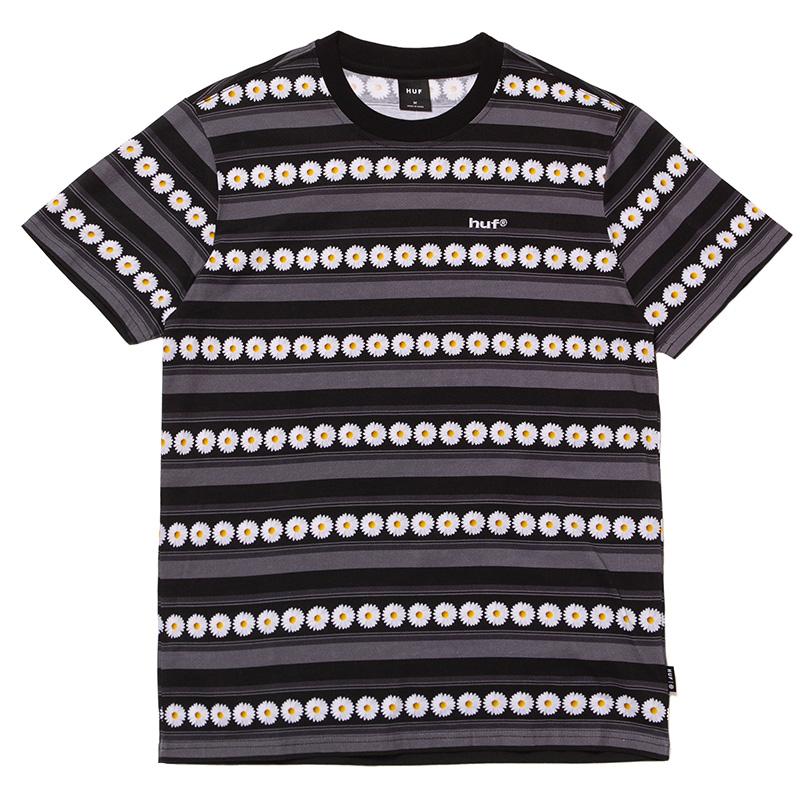 HUF Daisy Stripe Knit Top Black