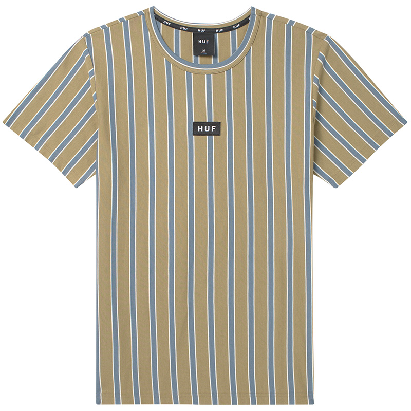 HUF Dexter Stripe Knit Top T-Shirt Dried Herb