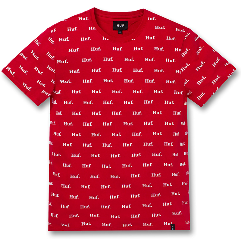 HUF Domestic All Over Print T-shirt Red