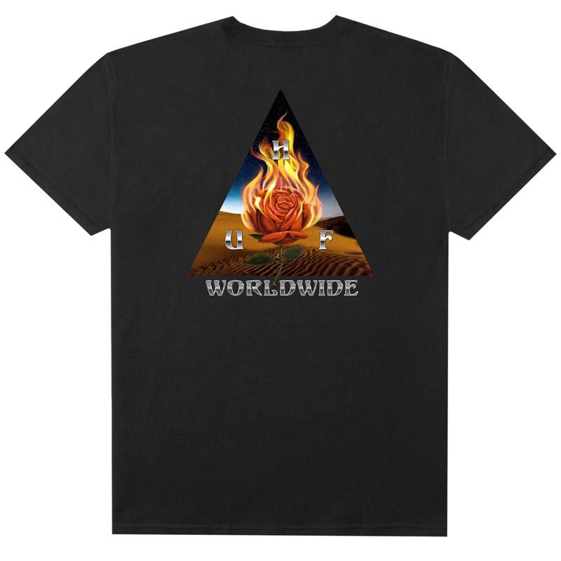 HUF Ember Rose TT T-Shirt Black