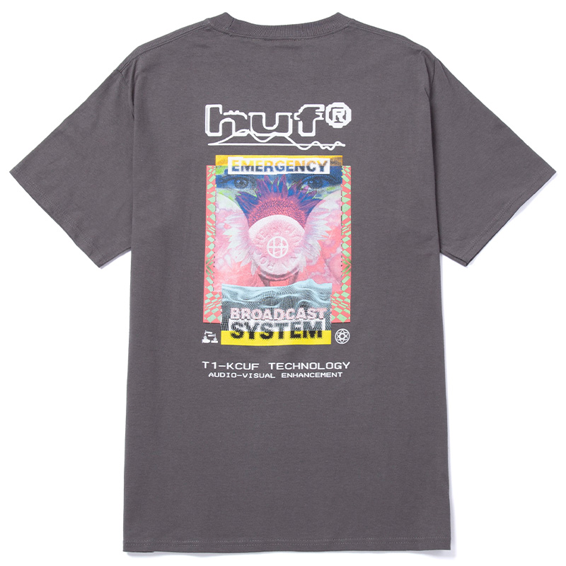 HUF Emergency System T-Shirt Charcoal