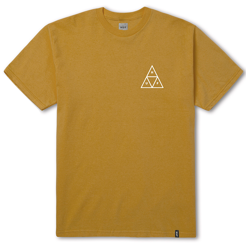 HUF Triple Triangle T-Shirt Honey Mustard