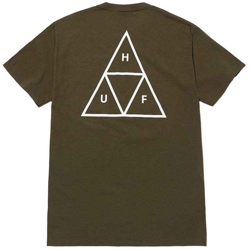 HUF Essentials Triple Triangle T-Shirt Olive