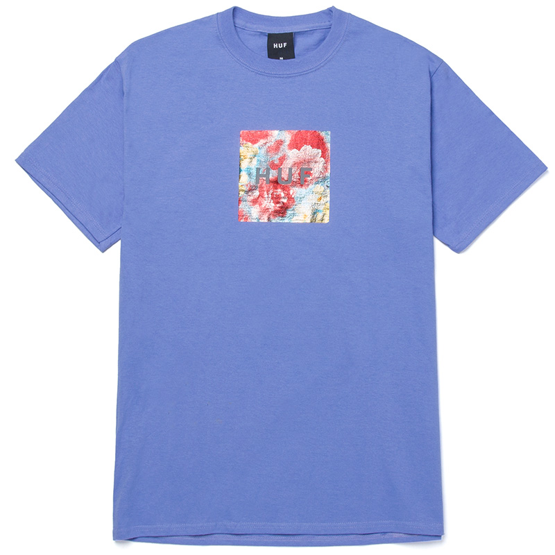 HUF Foil Flower Box Logo T-Shirt Violet