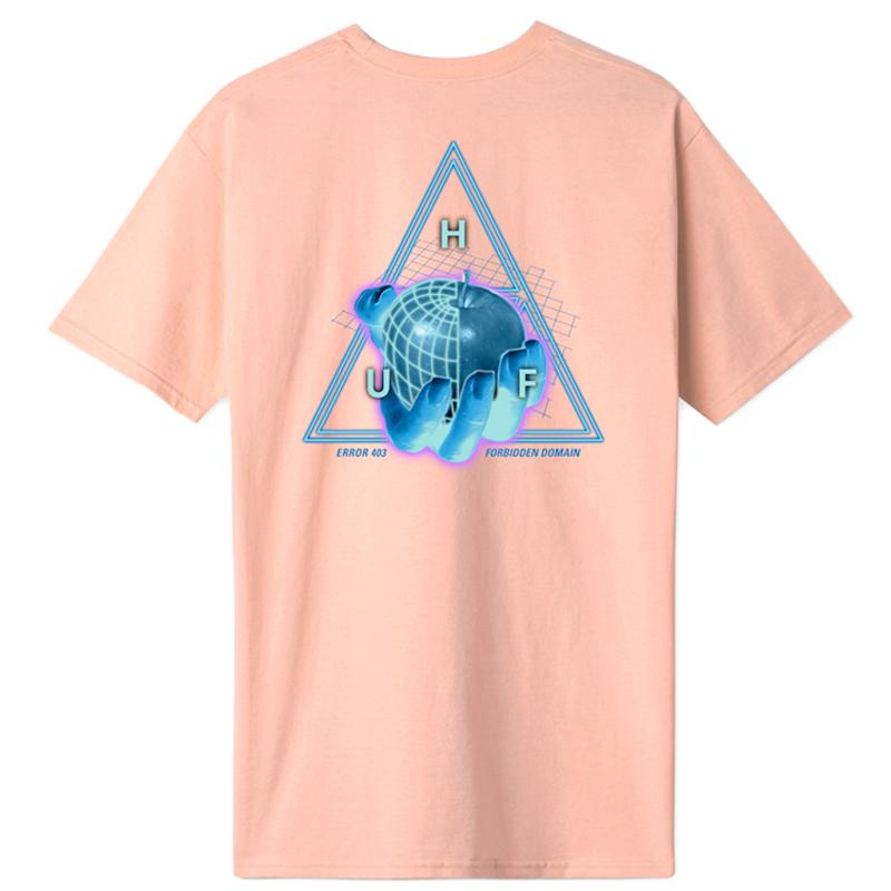 HUF Forbidden Domain T-Shirt Coral Pink
