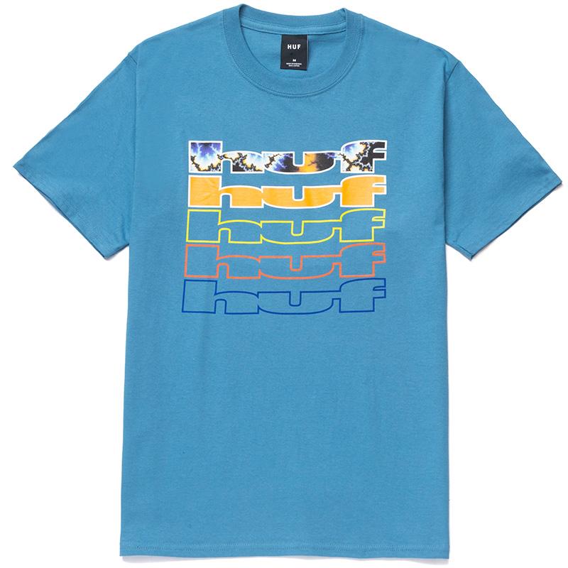 HUF Fractal T-Shirt Columbia Blue