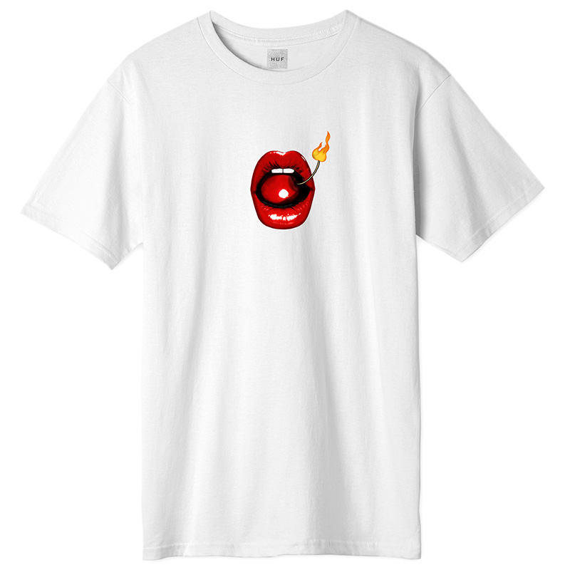 HUF Hot Lips T-Shirt White