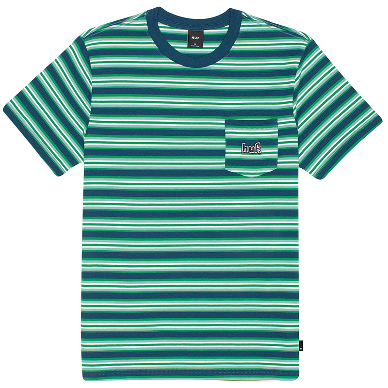 HUF Jett Stripe Knit Top Digital Teal