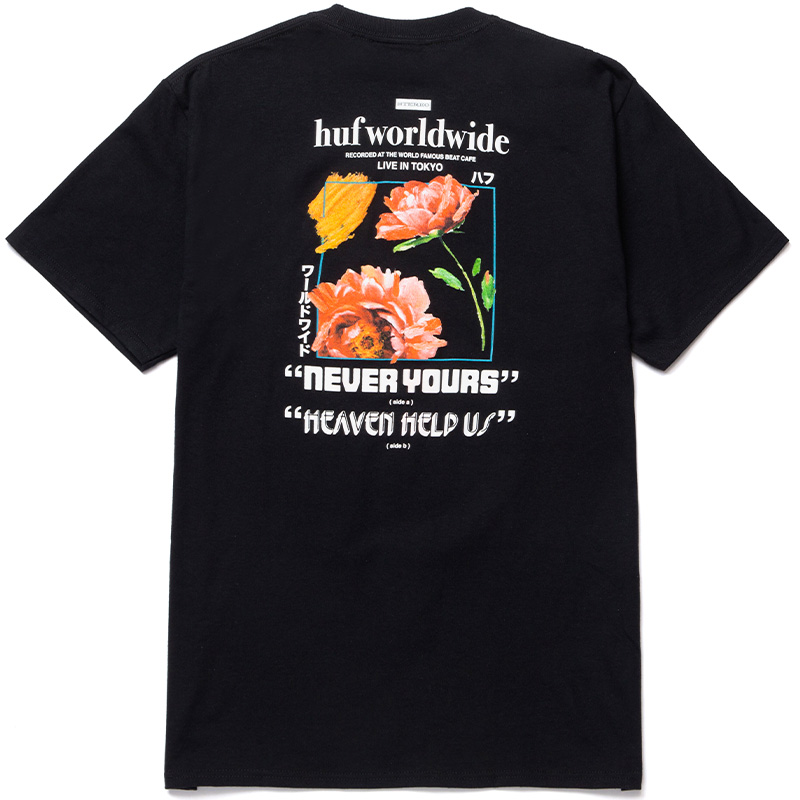 HUF Never Yours T-Shirt Black