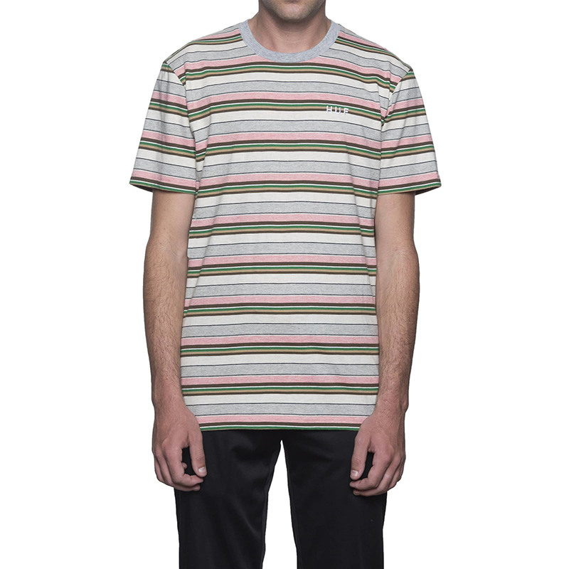 HUF Off Shore Stripe T-Shirt Pink